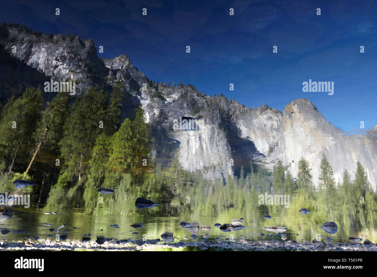 Merced River, Yosemite, California, America. Stock Photo