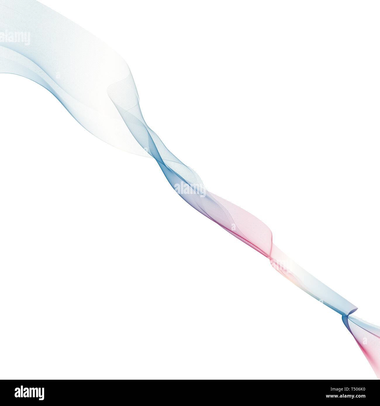 Abstract background with color waves. Vector illustration - Stock Image
