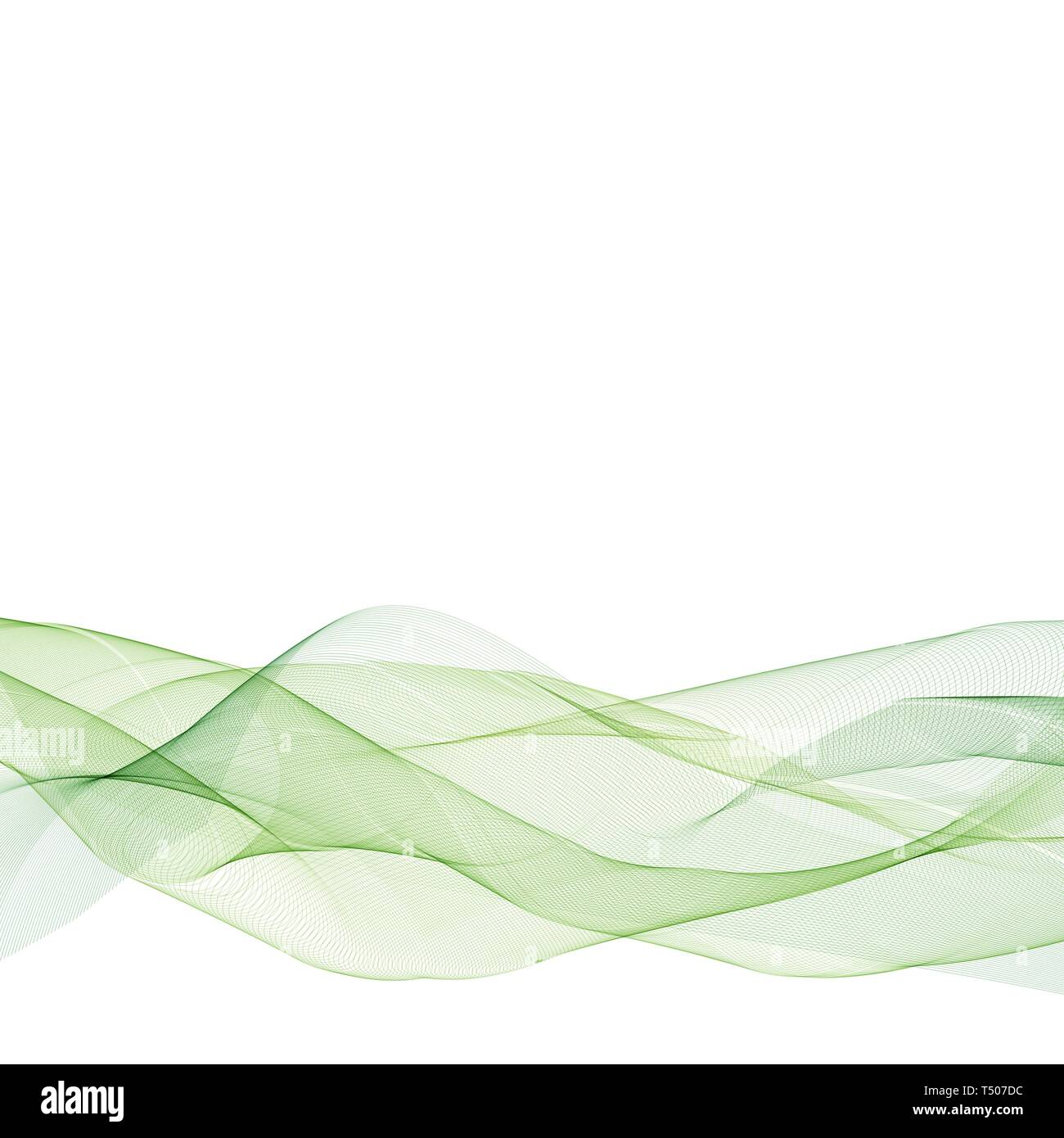 Abstract Green Wavy Lines Colorful Vector Background Green