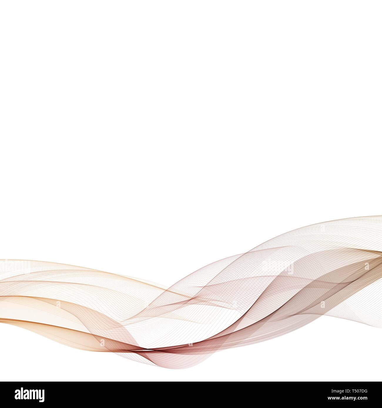 Brown wave. Vector layout for advertising. abstract illustration. eps 10 - Stock Image