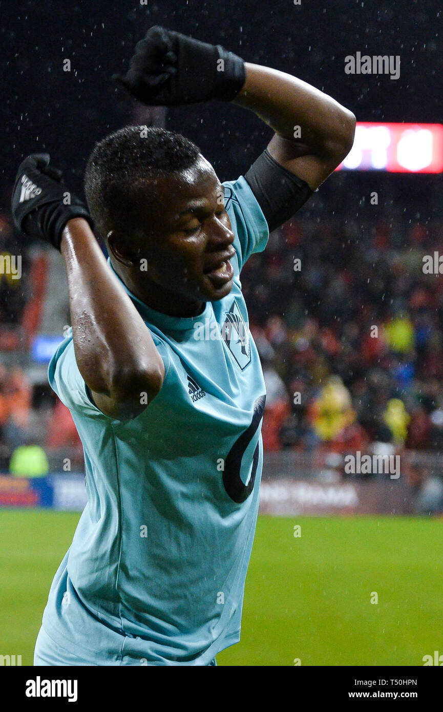 ac7989578f8 Darwin Quintero  25 forward of the Minnesota United FC celebrates after  scoring a goal during