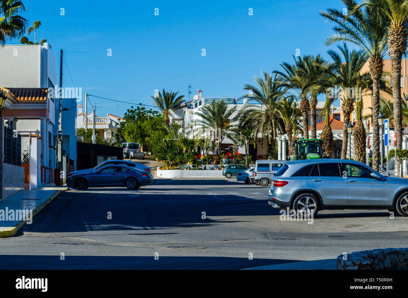 Antas Spain January 26 2019 Empty Spanish Streets In A Small