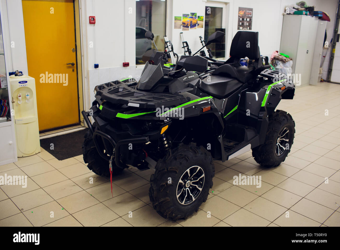Ufa, Russia, 2 July, 2018: Quad bike BRP Can-Am OUTLANDER 800 XMR. - Stock Image