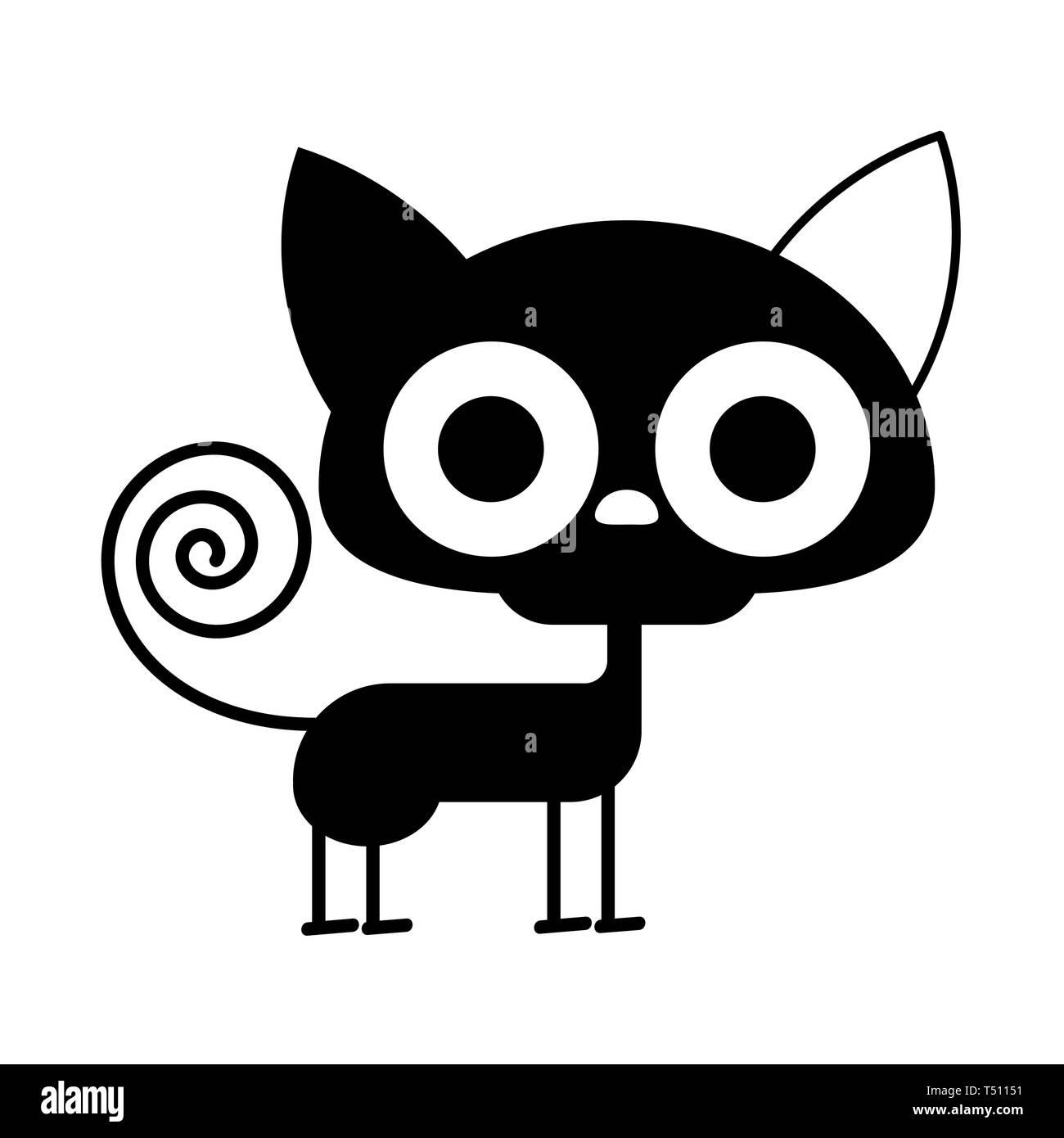 Cartoon Black Cat Drawing Cute Cat Illustration Funny Halloween Stock Vector Image Art Alamy