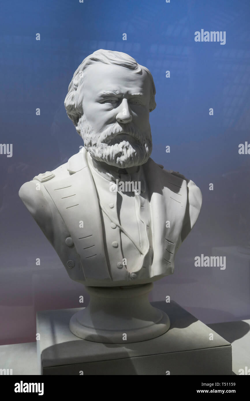 Bust of General Ulysses S. Grant at the Metropolitan Museum of Art, NYC, USA - Stock Image