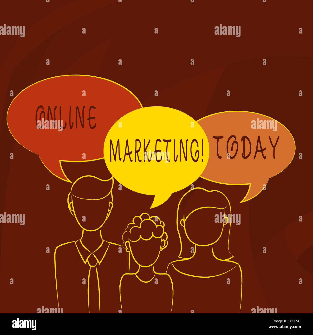 Conceptual hand writing showing Online Marketing  Concept