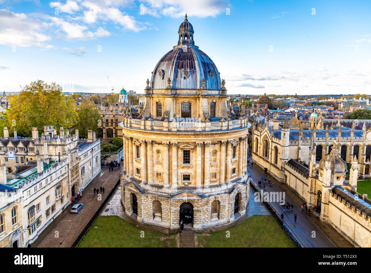 The Radcliffe Camera building facade, part of the Oxford University, in Oxford, UK Stock Photo