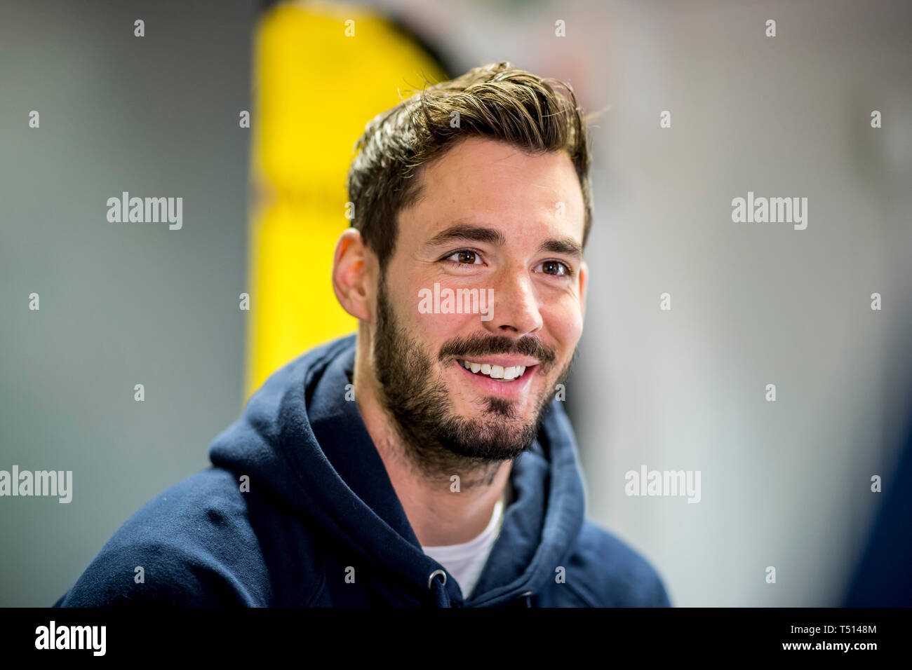 Fußball: 1. Bundesliga, Saison 2018/2019, Interview mit Dortmunds Roman Bürki am 04.03.2019 in Dortmund (Nordrhein-Westfalen) Stock Photo