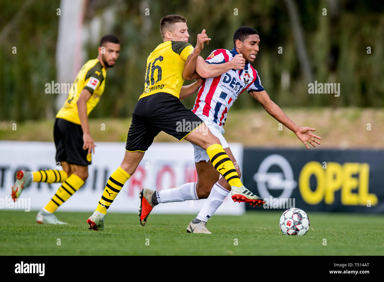 Fußball: Testspiele, BVB Winter-Trainingslager 2019, Borussia Dortmund - Willem II Tilburg am 11.01.2019 im 'Dama de Noche' in Marbella (Spanien).  Do - Stock Image