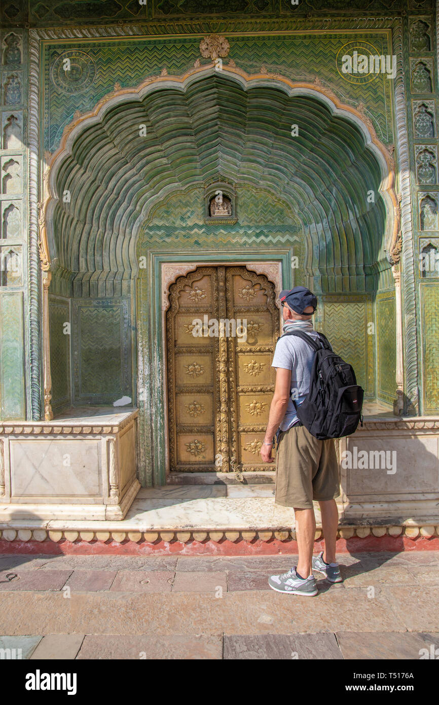 India, Rajasthan, Jaipur, City Palace (MR) - Stock Image