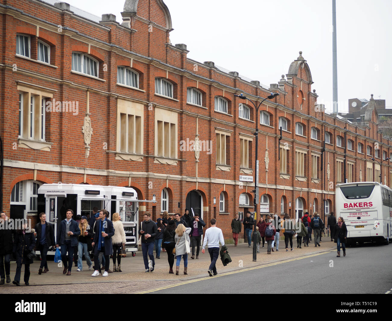 View outside Craven Cottage football club in London - Stock Image
