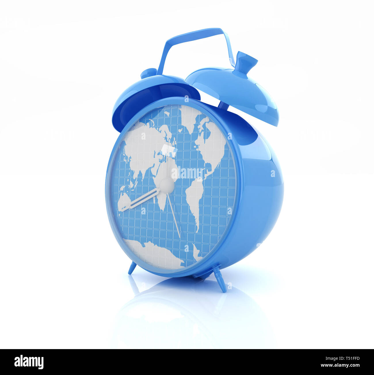 Clock of world map Stock Photo