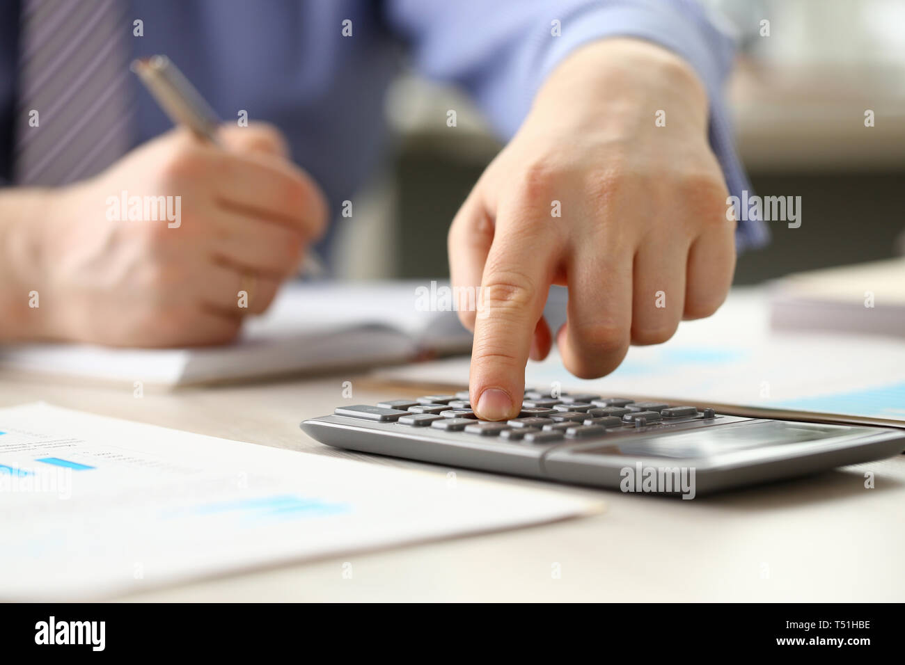 Accountant Manager do Bookkeeping Calculate Budget - Stock Image