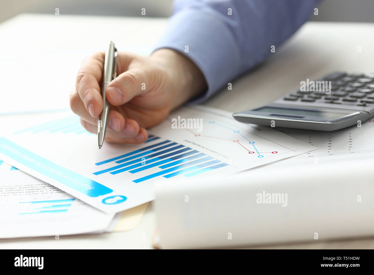 Accountant Manager Controlling Expense Income - Stock Image