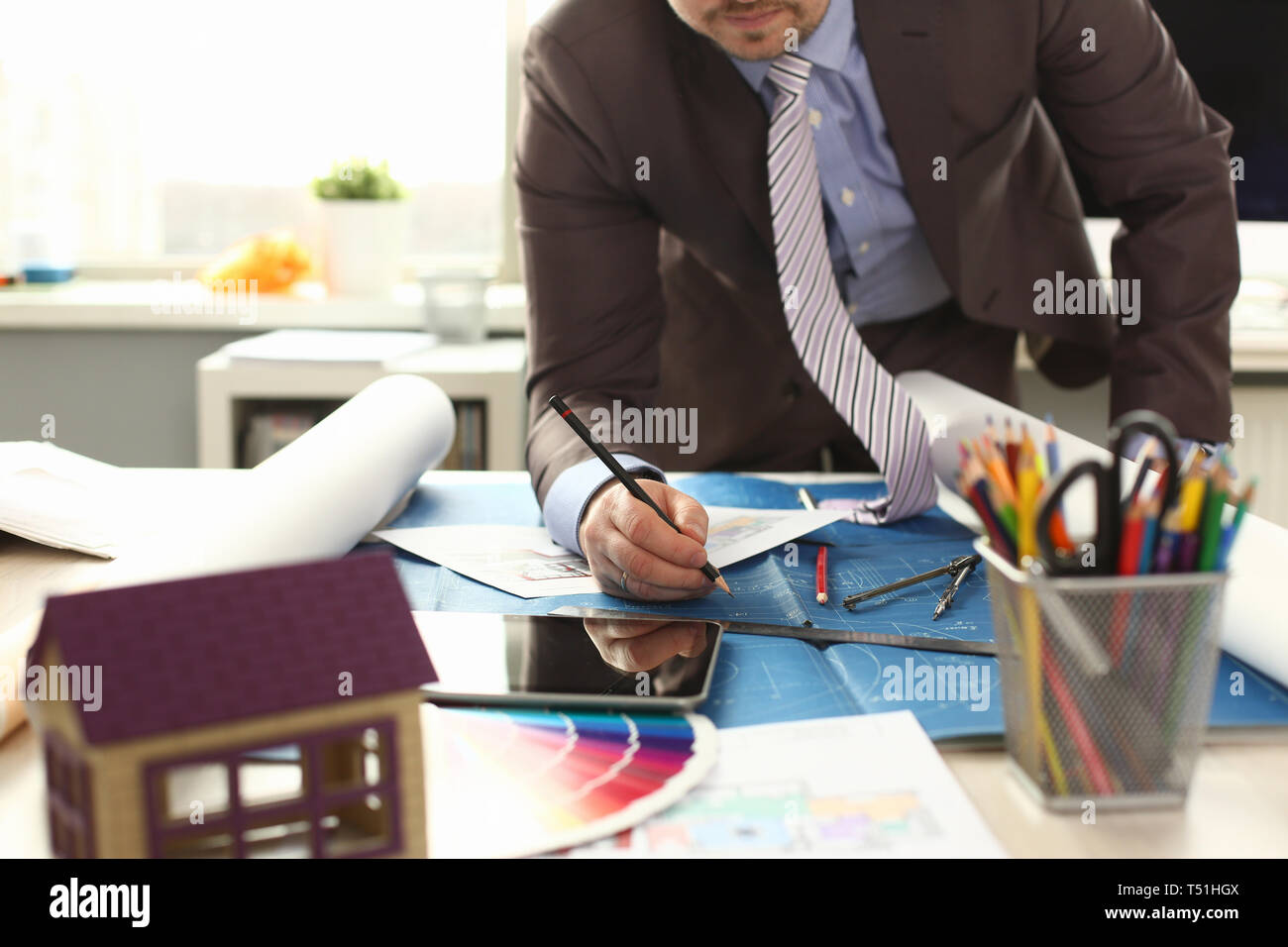 Workman Drafting Building Reconstruction Project - Stock Image