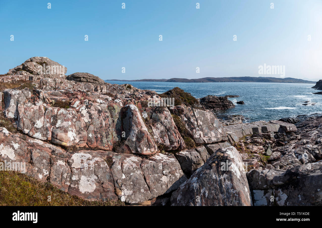 Loch Ewe, Poolewe, west coast of Scotland. Stock Photo