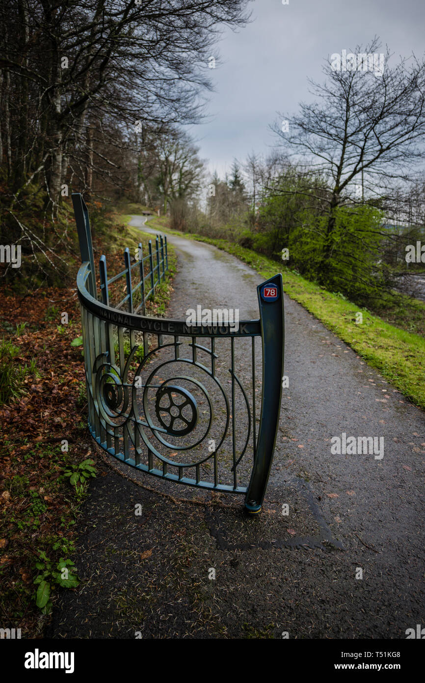 Sustrans Oban to Fort William cycle route, Scotland. Stock Photo