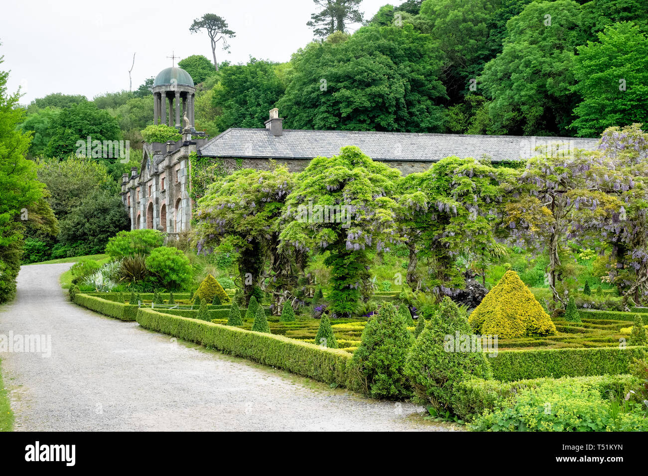 Bantry House in Bantry County Cork, Ireland.The origins of this house date back to 1765 and has been in the ownership of the same family since then. Stock Photo