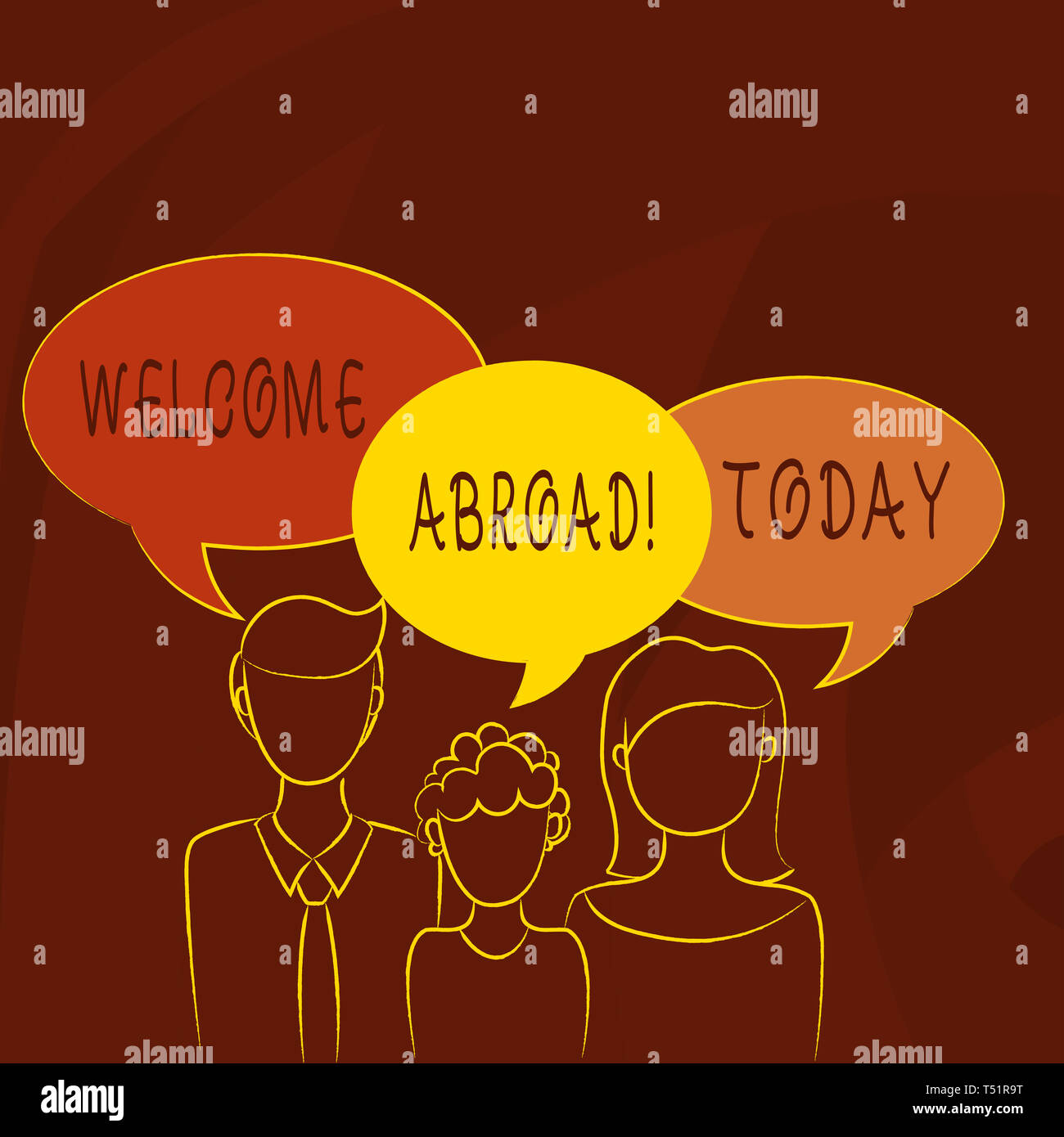 Conceptual hand writing showing Welcome Abroad  Concept meaning