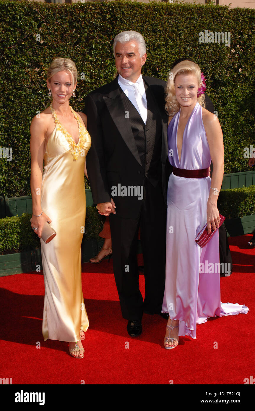 LOS ANGELES, CA. September 11, 2005: Actor JOHN O'HURLEY & wife LISA (left) & Dancing With The Stars partner CHARLOTTE JORGENSEN at the Creative Arts Emmy Awards in Los Angeles. © Paul Smith / Featureflash - Stock Image