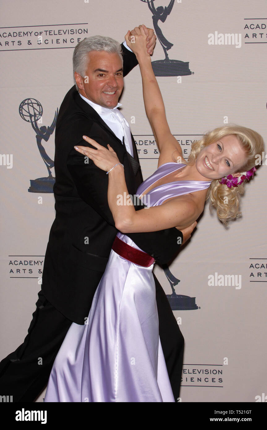 LOS ANGELES, CA. September 11, 2005: Actor JOHN O'HURLEY & Dancing with the Stars partner CHARLOTTE JORGENSEN at the Creative Arts Emmy Awards in Los Angeles. © Paul Smith / Featureflash - Stock Image