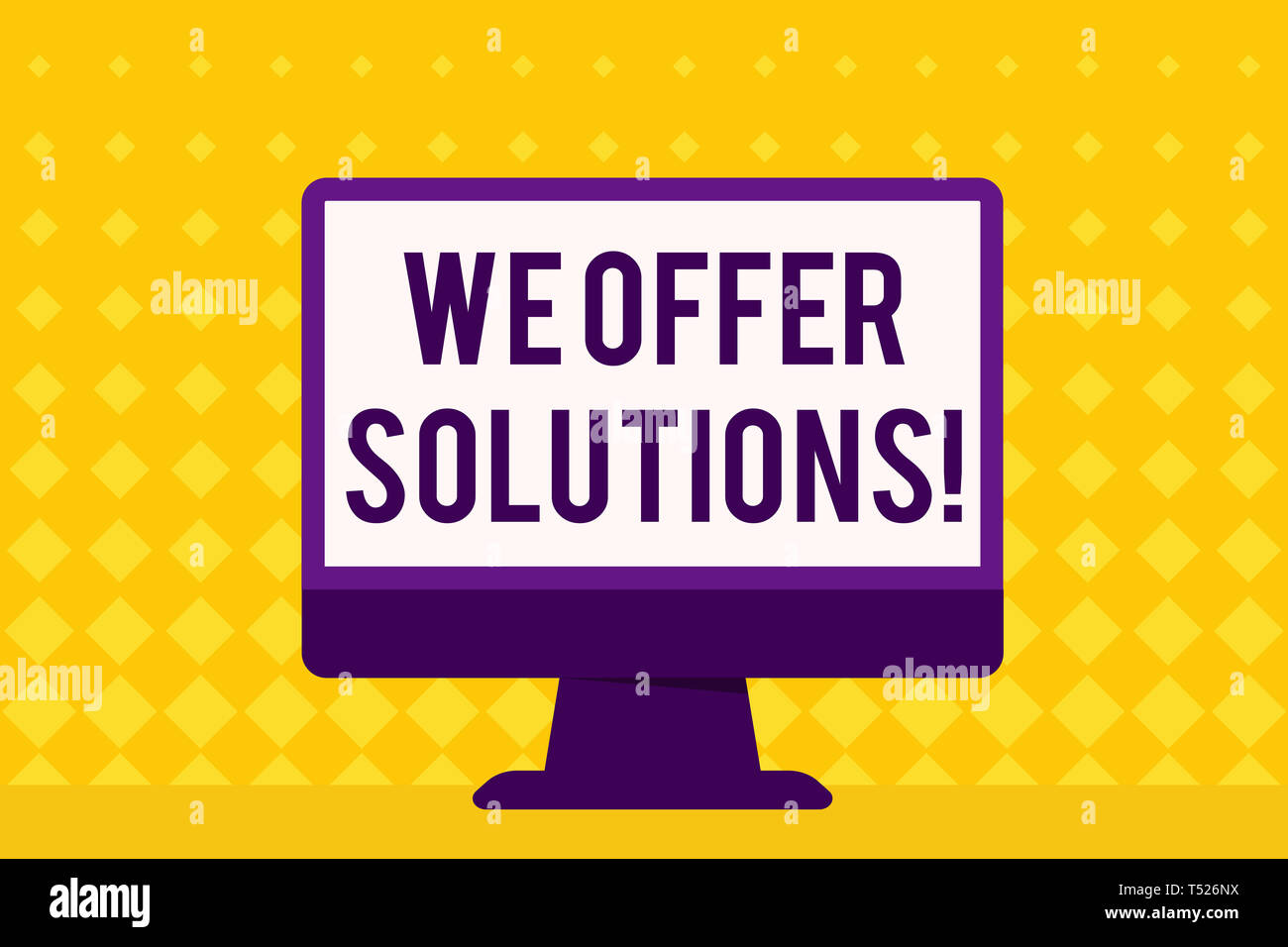 Text sign showing We Offer Solutions  Business photo showcasing way