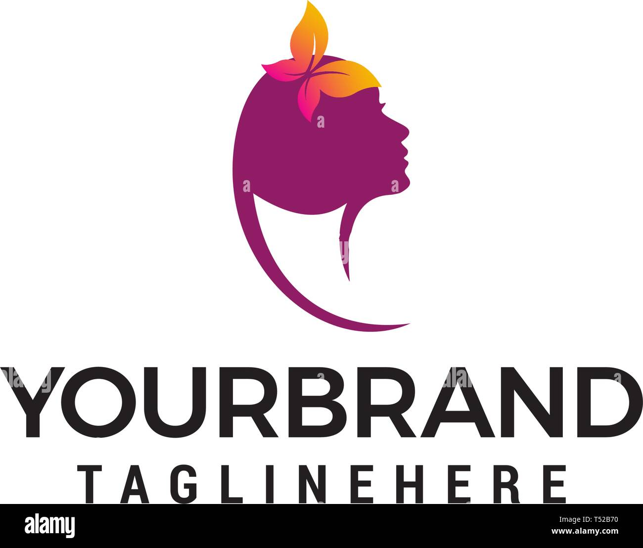 Beauty Female Face Logo Design Beauty Salon Logo Design Template Vectors Stock Vector Image Art Alamy