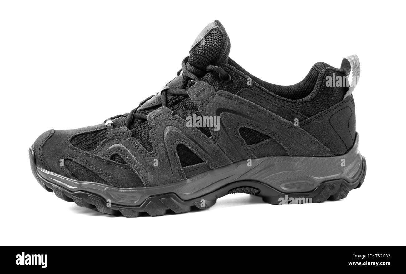 black sport shoes isolated on white background Stock Photo