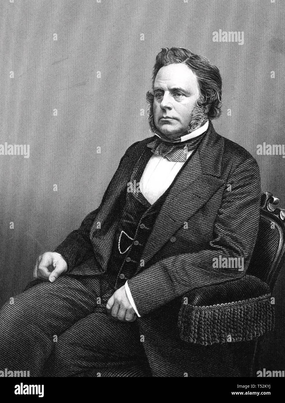 JOHN BRIGHT (1811-1889) English Radical and Liberal statesman - Stock Image