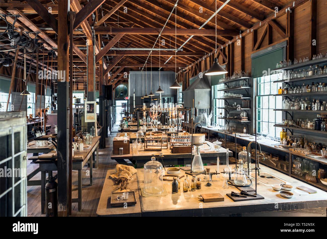 USA,Florida,Fort Myers, The Edison-Ford Winter Estates. Thomas Edison's working laboratory - Stock Image