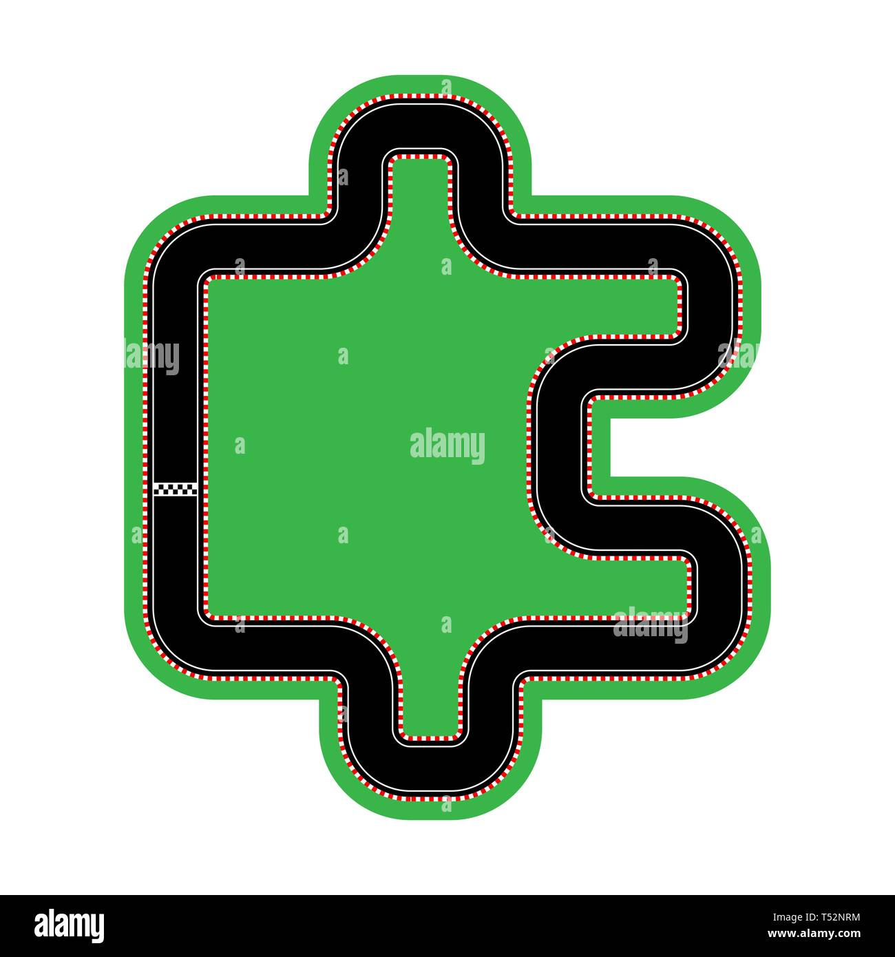 layout of the race tracks and design, flat design - Stock Image
