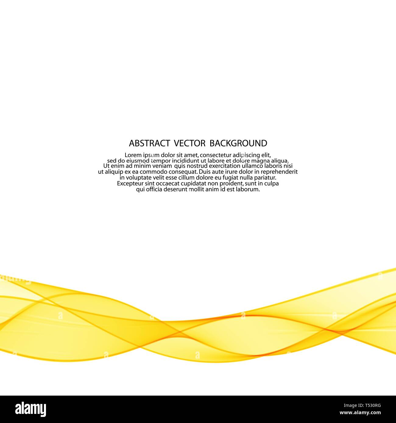 yellow vector wave. abstract image. advertizing - Vektorgrafik - Stock Image