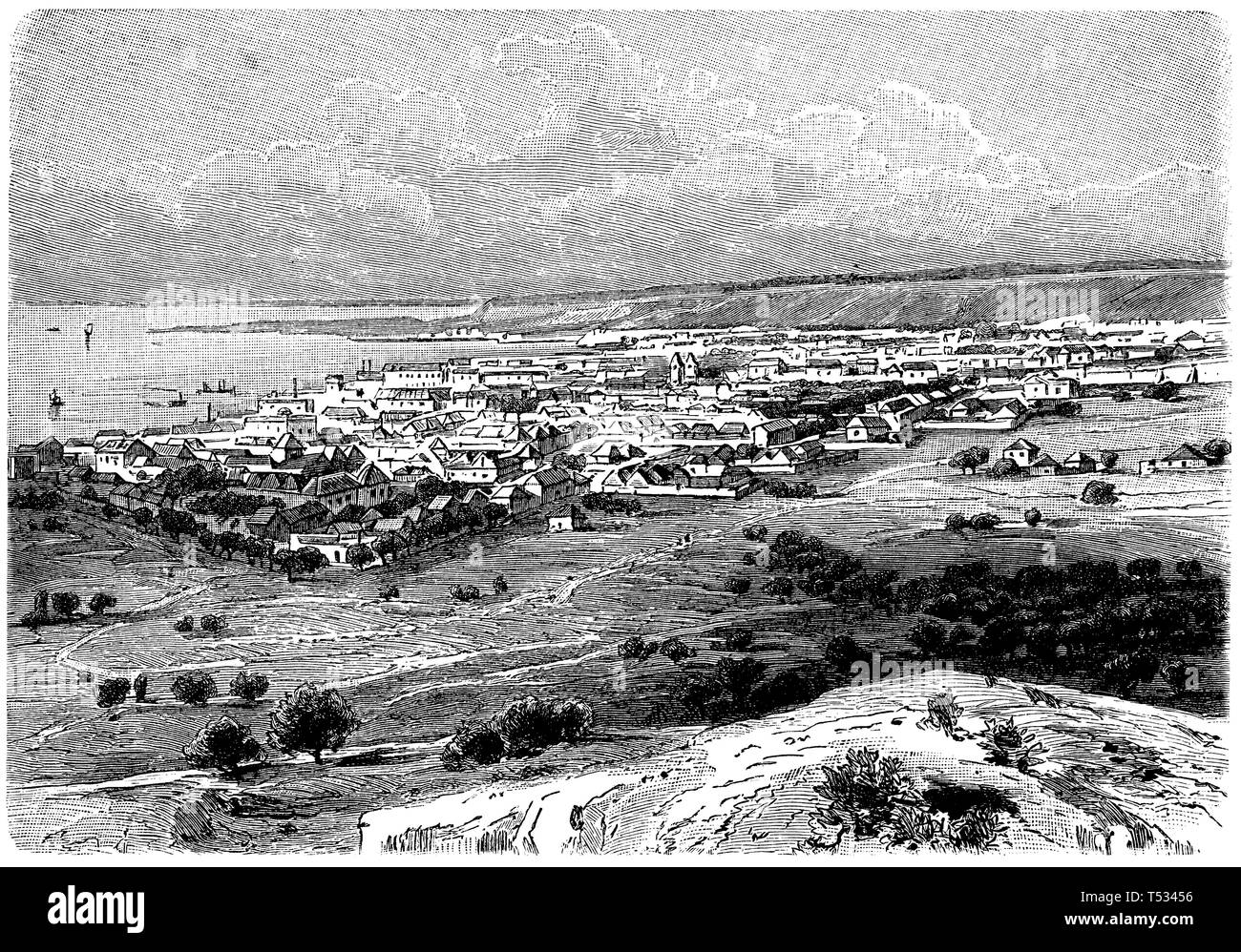 Sao Paulo de Loanda, anonym  1897 - Stock Image