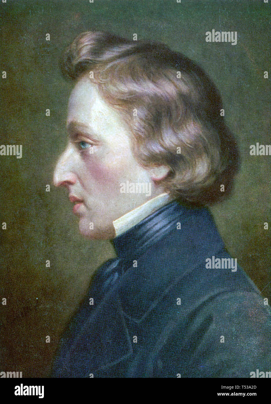 FRÉDÉRIC CHOPIN (1810-1849) Polish Romantic composer about 1850 - Stock Image