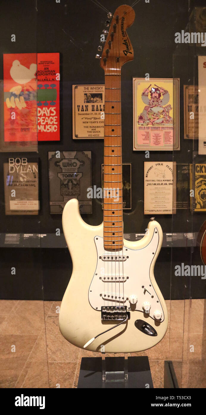 April 20 2019 New York City New York U S Stratocaster Fender Electric Guitar Used By Jimi