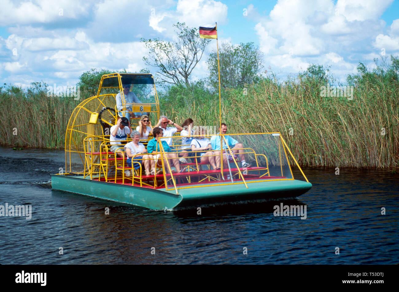 Everglades Florida Miccosukee Indian airboat tour Tamiami Trail Stock Photo