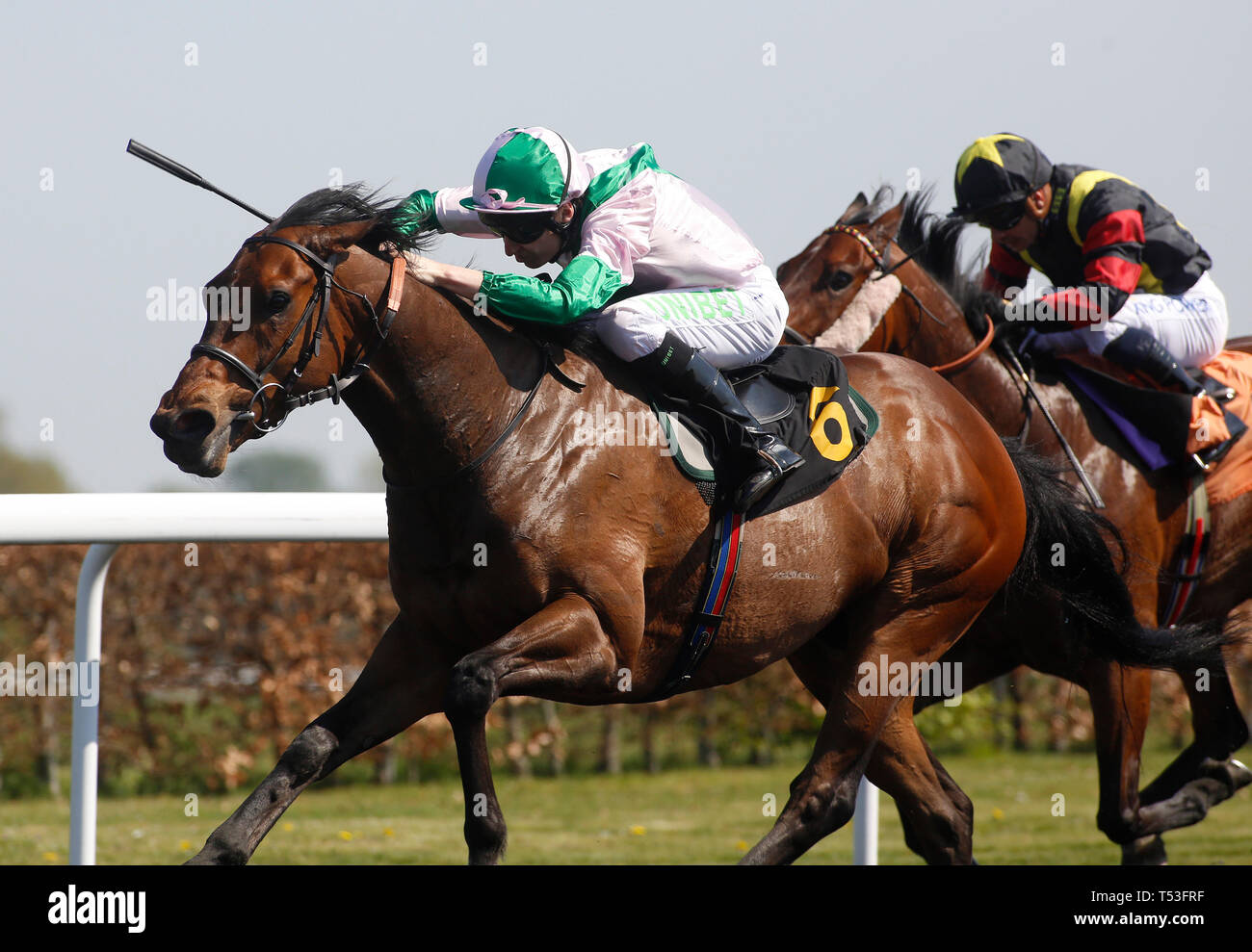 Cowboy Soldier ridden by Luke Morris lead the field home to
