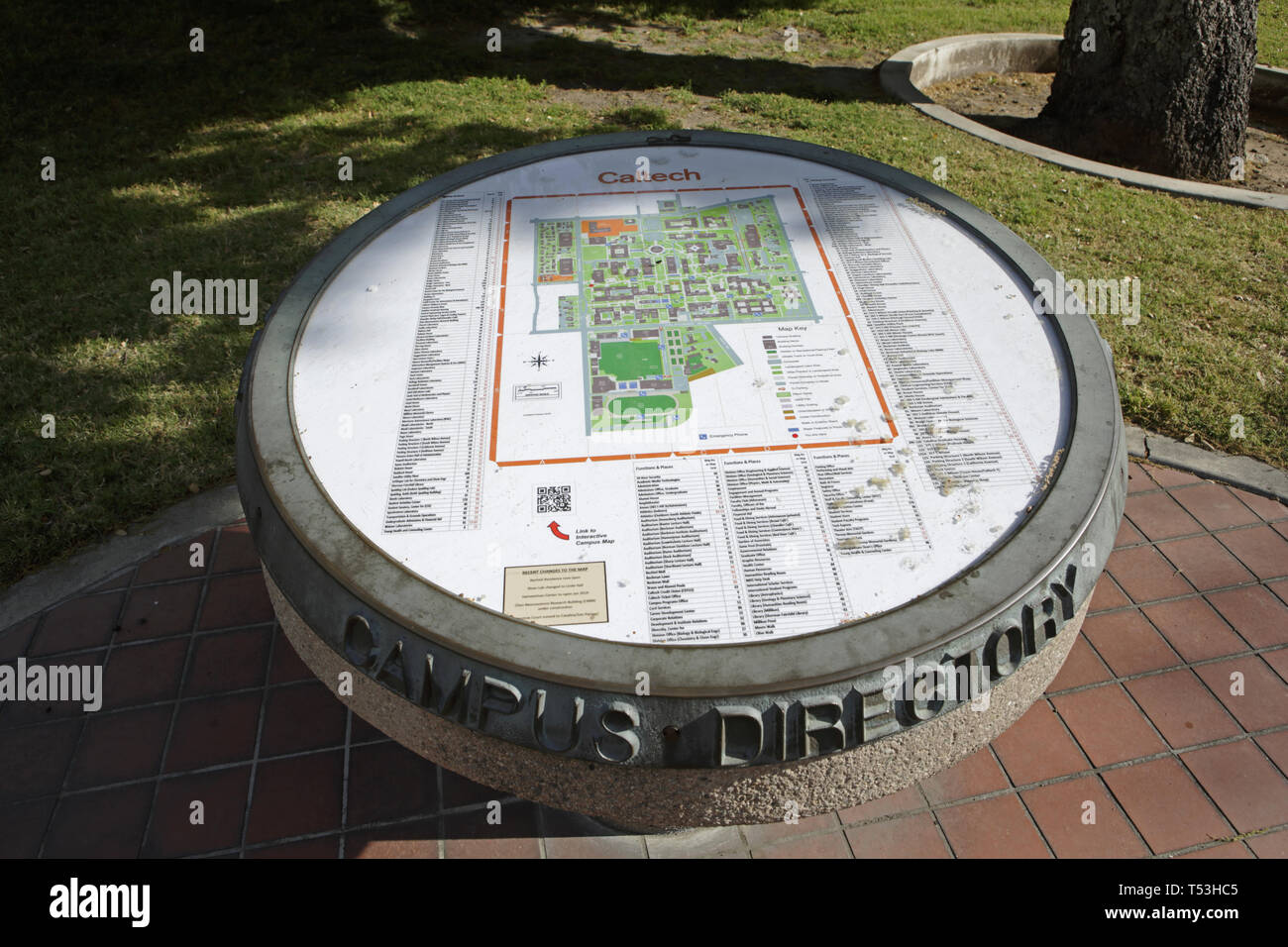 Caltech campus series, campus map Stock Photo: 244097957 - Alamy on