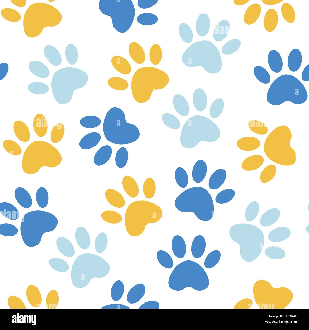 220fb7e1032f backdrop with silhouettes of cat or dog footprint.red Vector illustration  animal paw track pattern. Paw print seamless.
