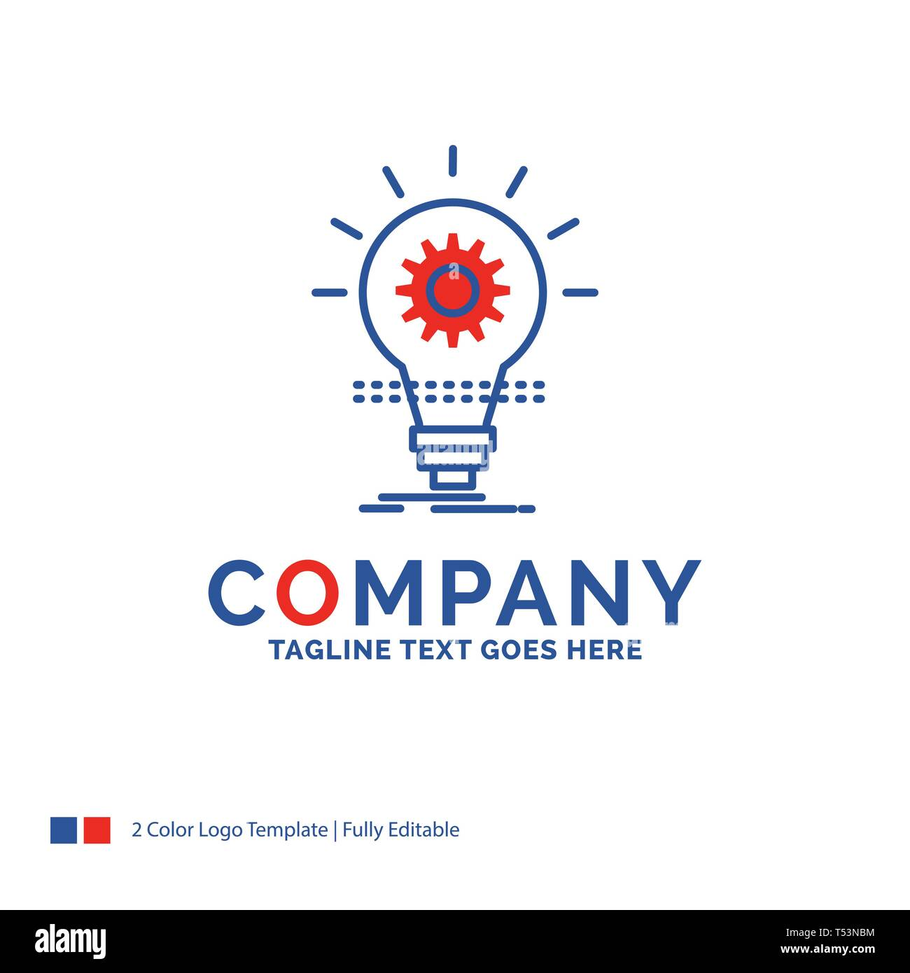 Company Name Logo Design For Bulb Develop Idea Innovation Light Blue And Red Brand Name Design With Place For Tagline Abstract Creative Logo Tem Stock Vector Image Art Alamy