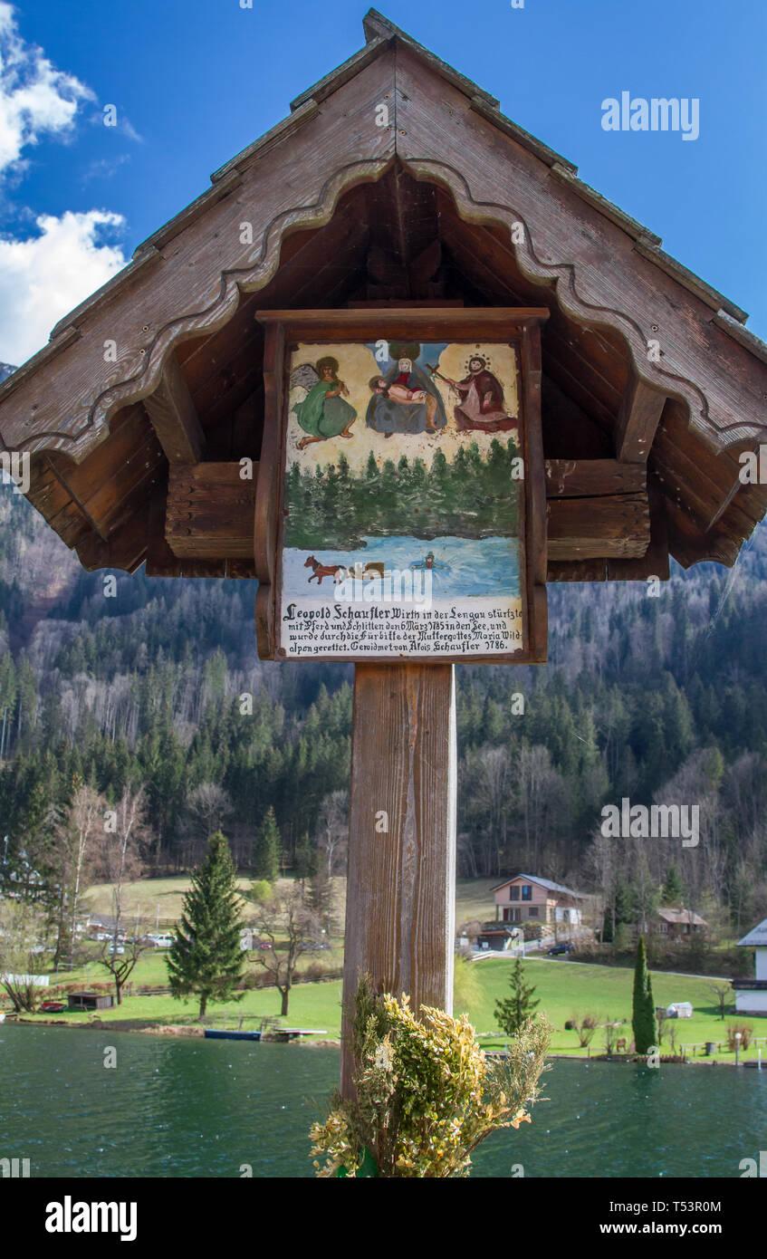 Bildstock (piety column) - Lunzer See, Lunz am See, Austria - Stock Image