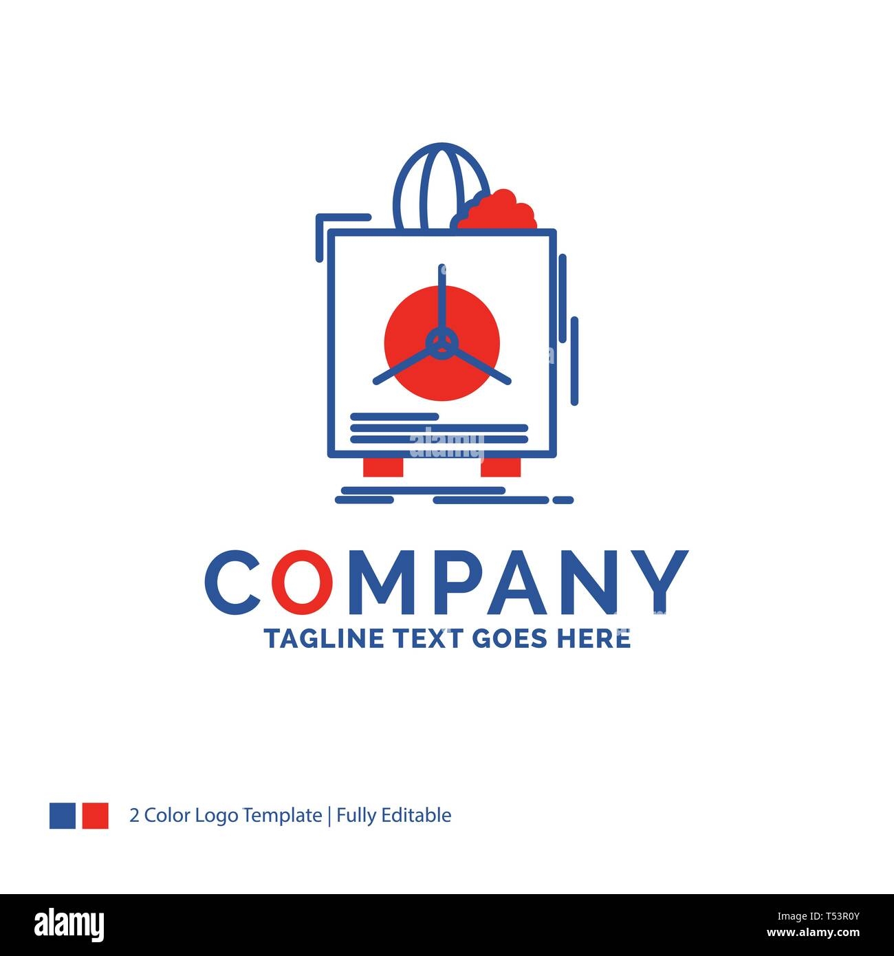 Company Name Logo Design For insurance, Fragile, product, warranty, health. Blue and red Brand Name Design with place for Tagline. Abstract Creative L - Stock Image