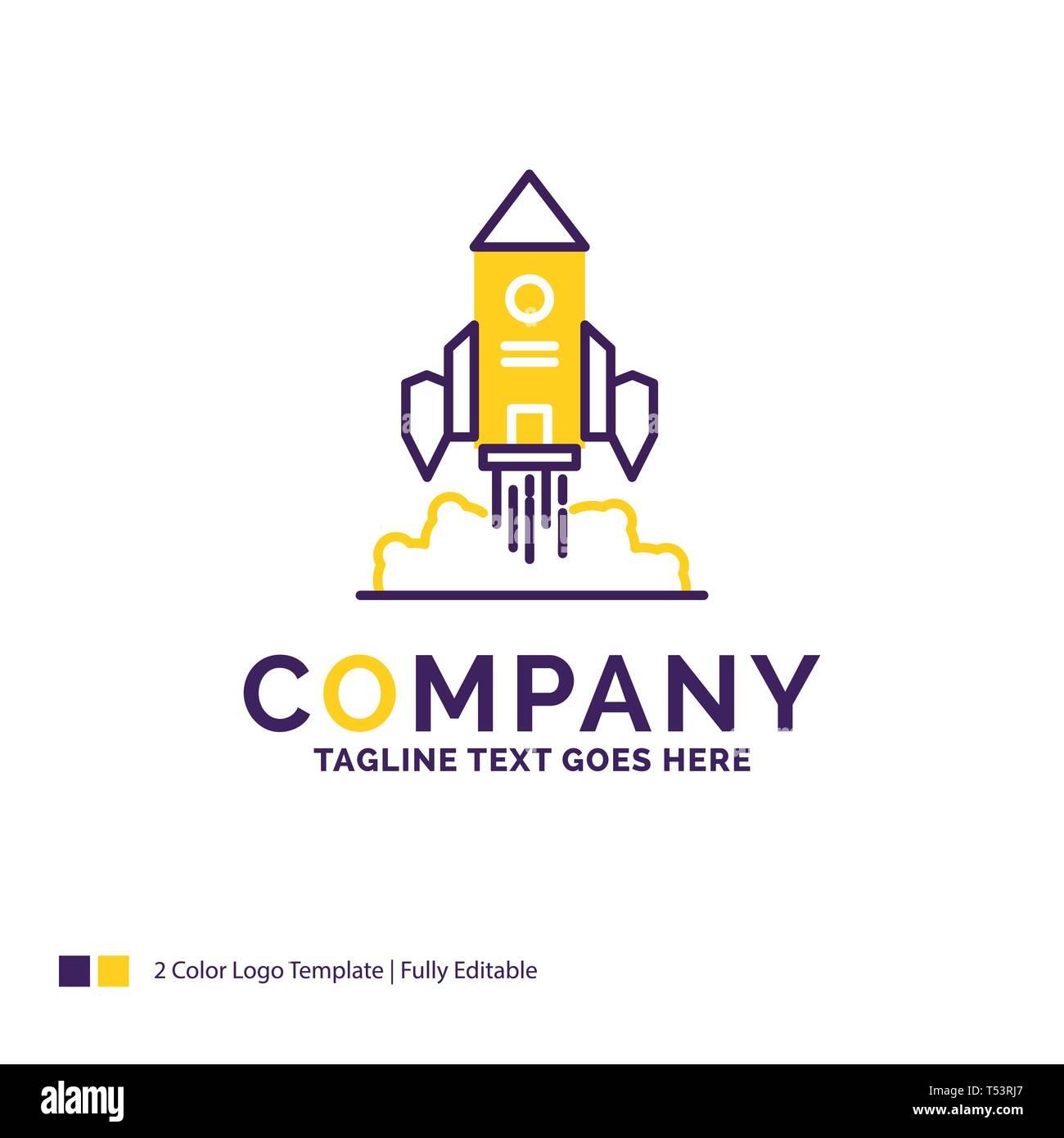 Company Name Logo Design For Rocket, spaceship, startup