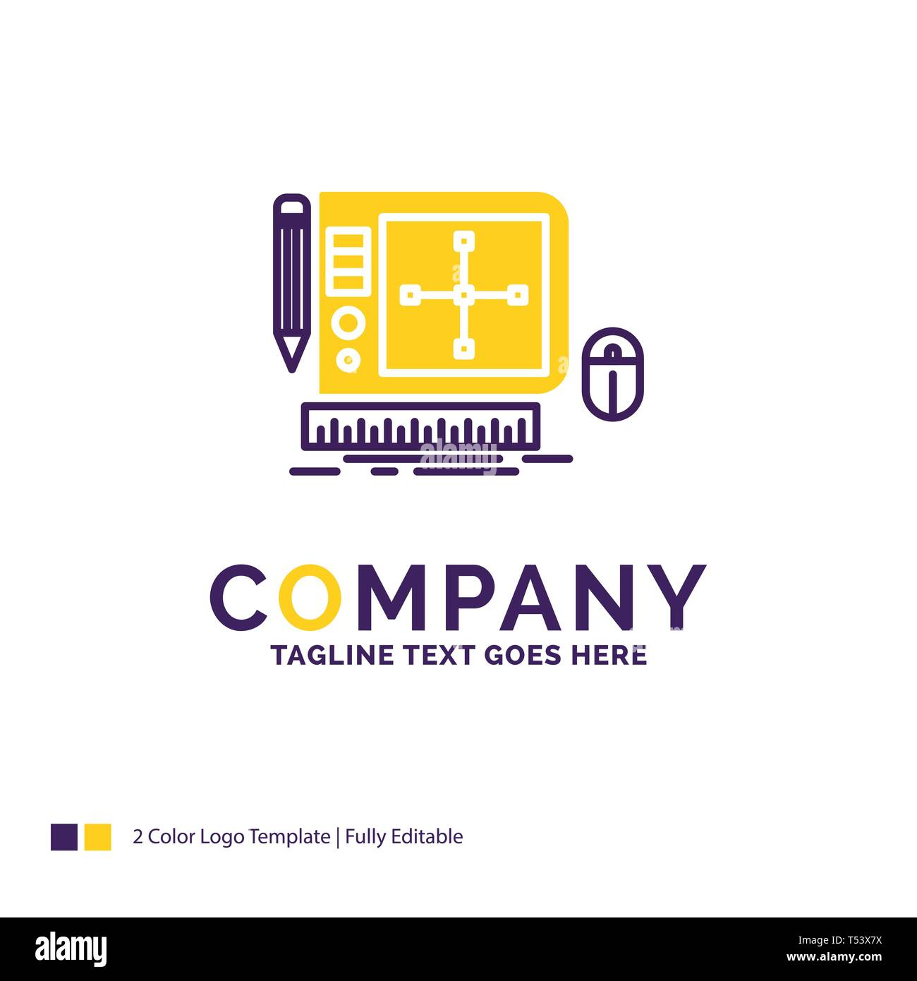 Company Name Logo Design For Design Graphic Tool Software Web Designing Purple And Yellow Brand Name Design With Place For Tagline Creative Logo Stock Vector Image Art Alamy
