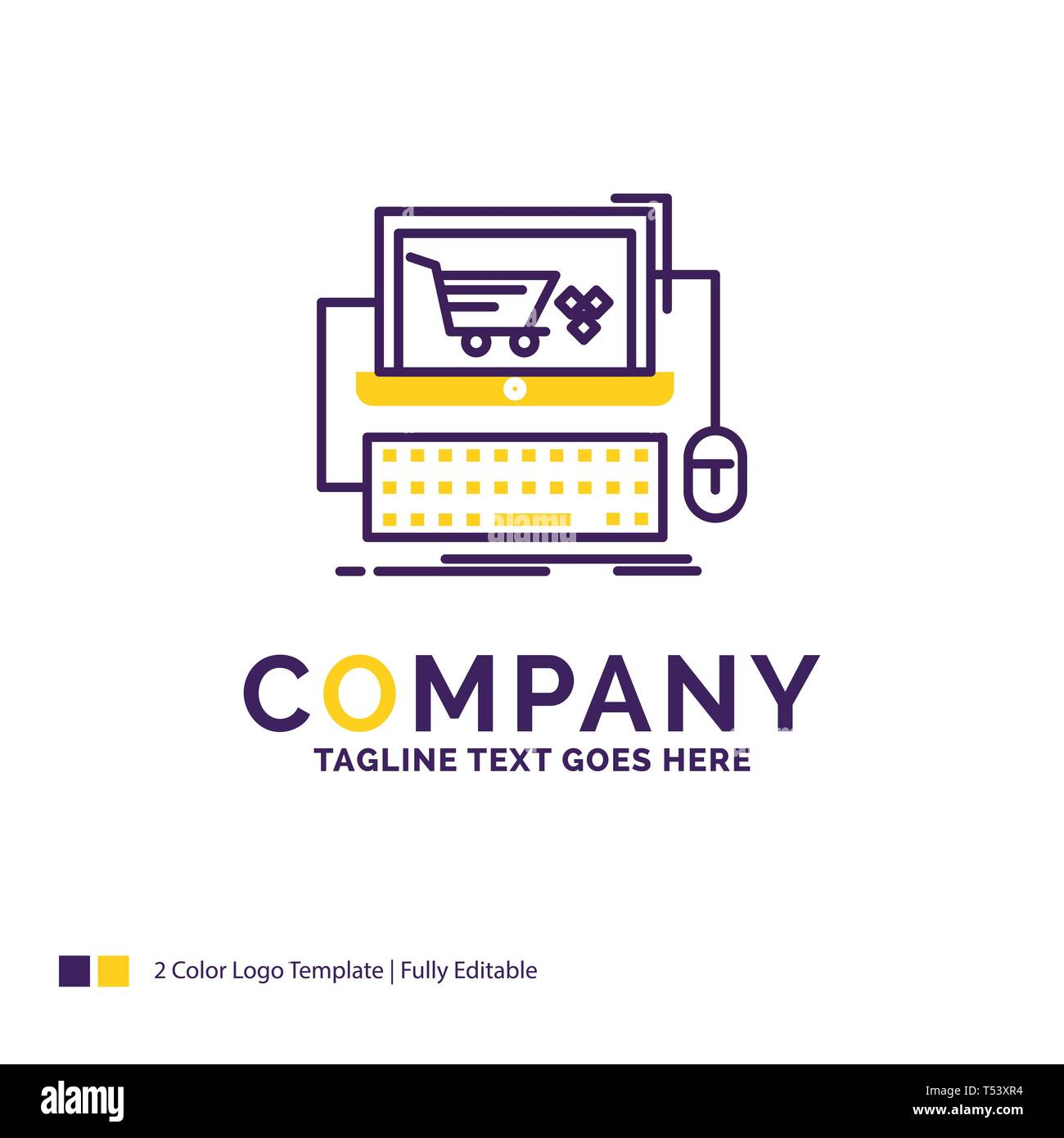 Company Name Logo Design For Cart Online Shop Store Game Purple