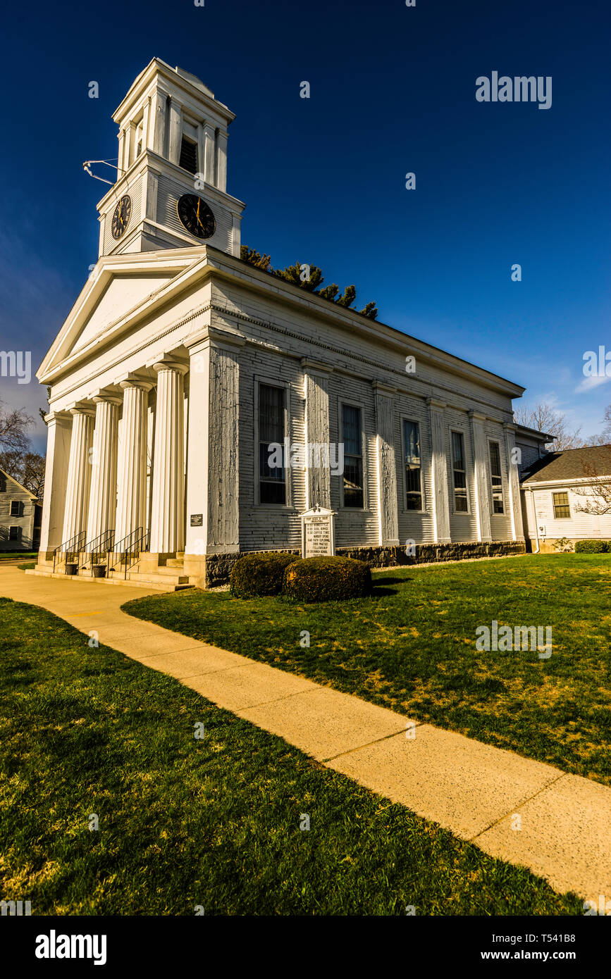 First Church of Christ Old Saybrook South Green_ Old Saybrook, Connecticut, USA - Stock Image