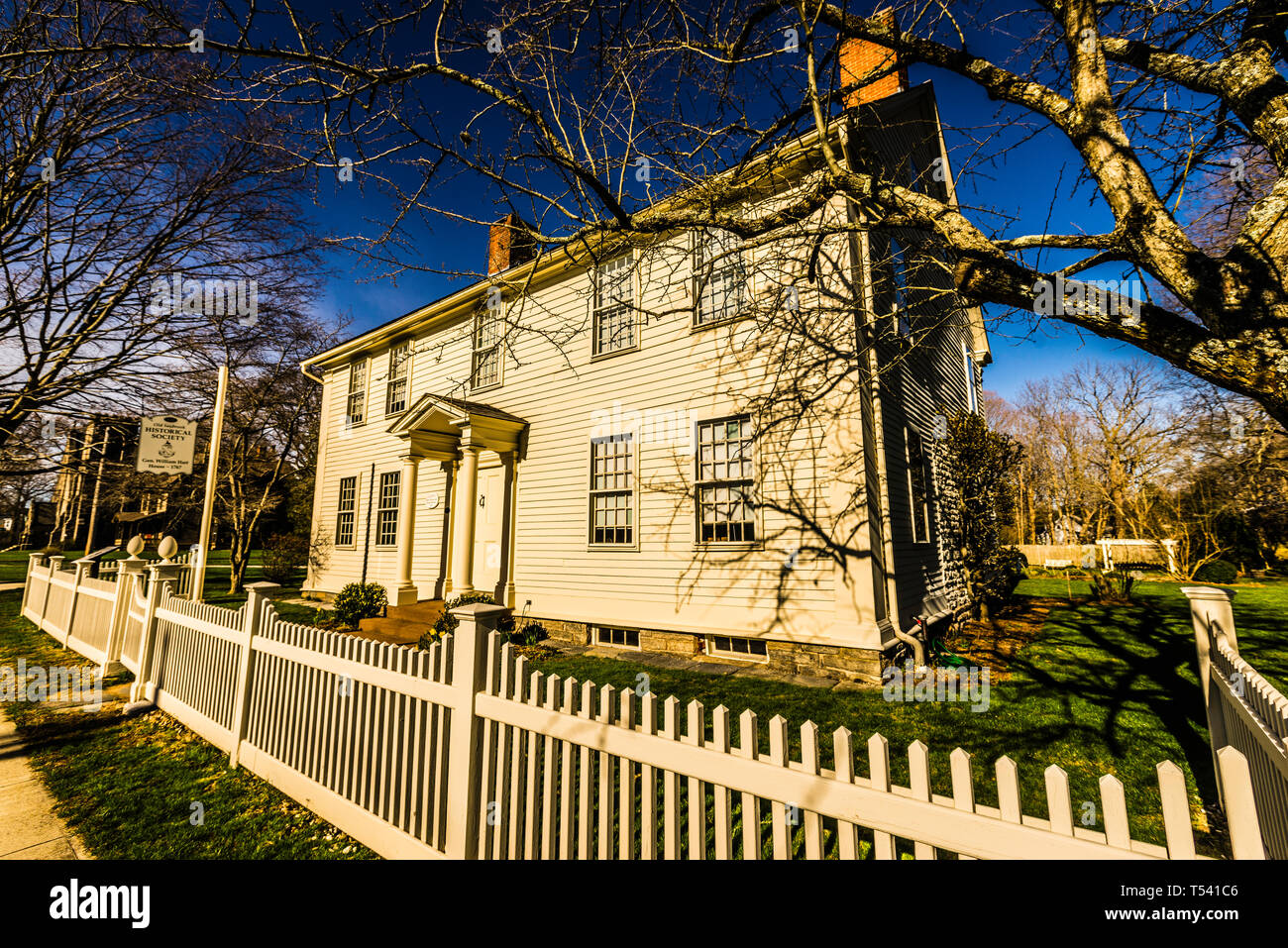 Gen. William Hart House Old Saybrook South Green_ Old Saybrook, Connecticut, USA - Stock Image