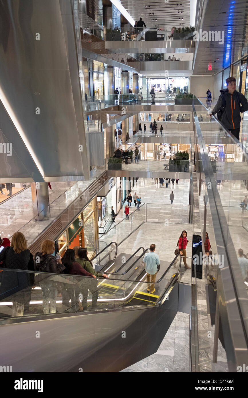 A view of the interior of  at 20 Hudson Yards on the West Side of Manhattan, New York City. Stock Photo