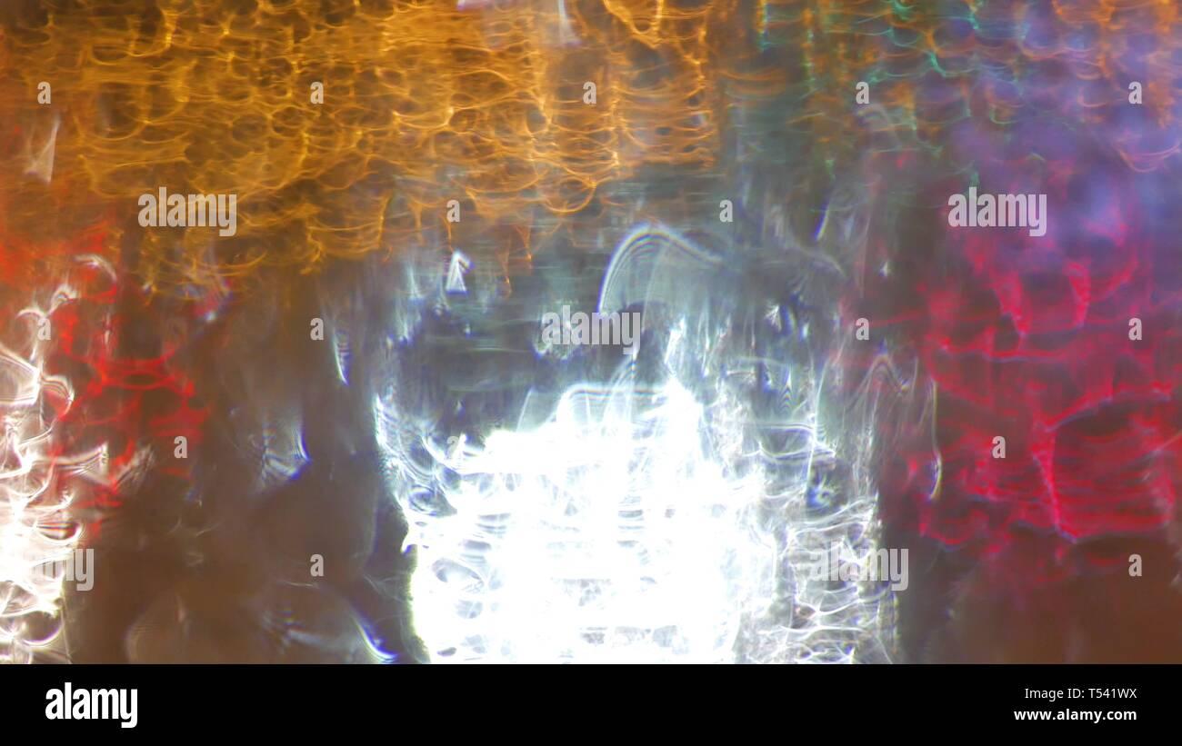 Blur Background Moving Bokeh Circles Of Night Traffic