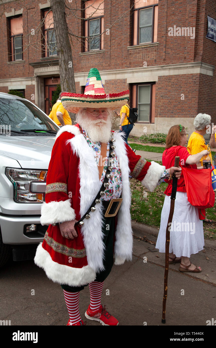Man Dress In A Mexican Santa Claus Costume For Cinco De Mayo Parade St Paul Minnesota Mn Usa Stock Photo Alamy